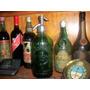 Sifon Antiguo *la Esmerada* Vidrio Verde - Cabeza De Plomo