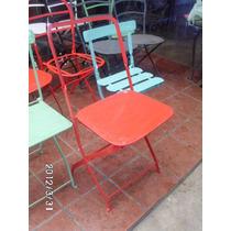 Antigua Silla Chapa Tipo Quilmes Cuadra Roja