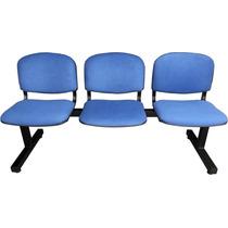 Tandem De 3 Sillas Tapizado - Salas De Espera - Consultorios