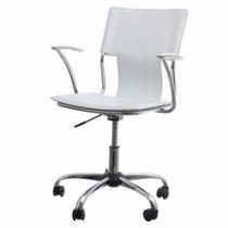 Sillón Ecocuero Rojo Negro Blanco Oficina Hogar Diseño Vip