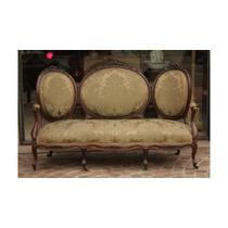 Sofa Isabelino 3 Cuerpos Tapizado En Tela De Seda