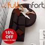 Sillon Sofa Esquinero Curvo + Puff Premium Living Rinconero