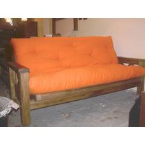 Futón 3 Cuerpos Rústico (sillón, Reláx Y Cama 2 Plazas)