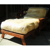 Futon-cama Con Piecera/ ¡colchón Reforzado Excelente !