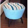 Puff Vintage Redondo Retro-fabrica 12 Cuotas Fijas $220 C/u