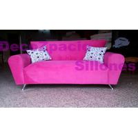 Sofa Modelo Simpson 2 Cp En Tela Pana O Tela Chenille