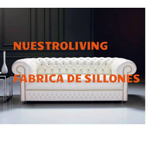 Espectacular Sillon Chesterfield 2 Cuerpos