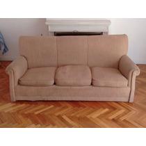 Sofá De 3 Plazas Excelente Madera - Ideal Para Retapizar