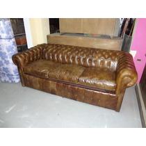 Sillon cama de dos cuerpos en cuero ecologico sillones - Sofa cama chesterfield ...