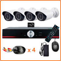Kit Seguridad Hd Alta Definición Dvr 4 Cámaras Ext Disco 1tb