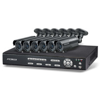 Kit Seguridad Pcbox 8ch Dvr 500gb 6 Camaras Vga Hdmi