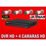 Kit Dvr 4 Canales Dahua Alta Definicion+ Instalacion
