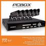 Kit Seguridad Pcbox 6 Cámaras 8ch Dvr 500gb Vga Hdmi H264