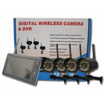 Kit Seguridad Lcd 7 + 4 Camaras Inalambricas Bebe Monitor