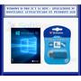 Windows 10 Pro 32/64 Bits + Aplicaciones En Pendrive 8 Gb