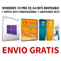 Windows 10 + Office 2013 + Antivirus (3 Dvds) + Envio Gratis