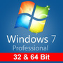 Windows 7 Sp1 Professional Español 1pc 32/64 Bits