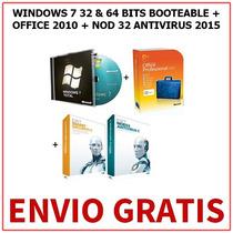 Windows 7 + Office 2013 + Antivirus (3 Dvds) + Envio Gratis