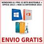 Windows 8.1 32 Bits + Office 2013+ Antivirus (3 Dvds)+ Envio