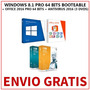 Windows 8.1 64 Bits + Office 2016+ Antivirus (3 Dvds)+ Envio