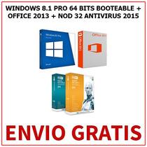 Windows 8.1 64 Bits + Office 2013 + Antivirus (3 Dvds)