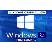 Licencia Windows 8.1 Profesional Original