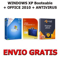 Windows Xp + Office 2010 + Antivirus (3 Dvds) + Envio Gratis