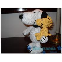 Snoopy + Woodstock En Crochet. Novedad!! Articulado!!!!