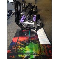 Snowboard Dama Burton Deja Vú 146 + Fijaciones Stiletto