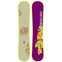 Tabla De Snowboard Mujer Santa Cruz Hibiscus 3d Rocker Stw