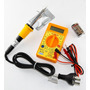 Combo Tester Multimetro Buzzer + Soldador 40w +9v High Tec
