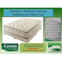 Colchon + Sommier Cannon Sublime Pillow Top - Med.190 X 150