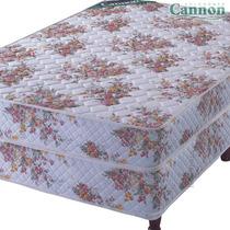 Colchon Y Sommier Cannon 2 1/2 Plazas Superoferta!!