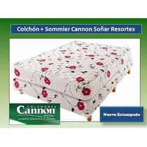 Colchon Y Sommier Cannon Soñar 190x140 - 2 Almohadas Regalo