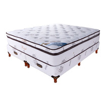 Colchón Somier Taurus Royal Resorte 160x200 Superpillow 35kg
