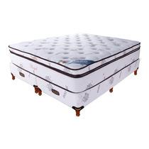 Colchon Somier Taurus Royal Resorte 160x200 Superpillow 35kg