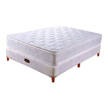 Colchón Somier Taurus Equis Resorte 140x190 C/pillow Top