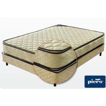 Conjunto Sommier Y Colchon Piero Bahia 190 X 140 Con Pillow