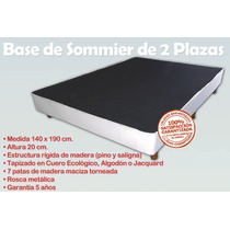 Base Sommier Box Somier Cama 2 Plazas