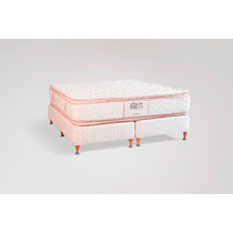 Colchon Y Sommier Sleep Art 500 Resortes 160x190 La Cardeuse