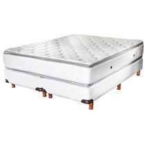 Sommier+colchón Diamante Con Doble Pillow Luna Del Sur 1.40