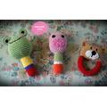 Sonajeros Tejidos Al Crochet