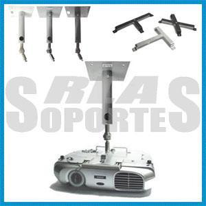 Soporte para techo 30 cms video proyector multimedia lcd dlp web electro - Soporte para proyectores techo ...
