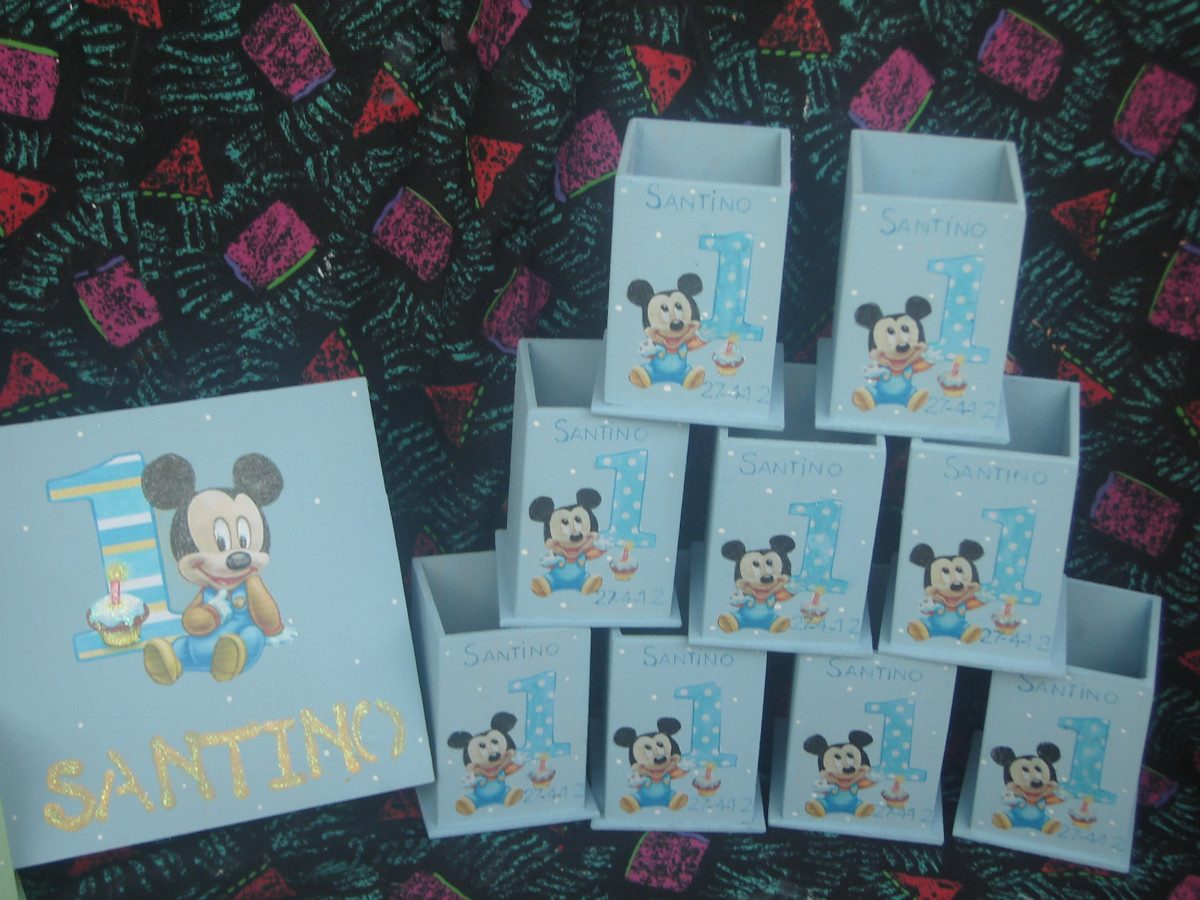 Souvenirs 1 Año,minnie Y Mickey,golosineros,portalpices, - $ 9,90 ...