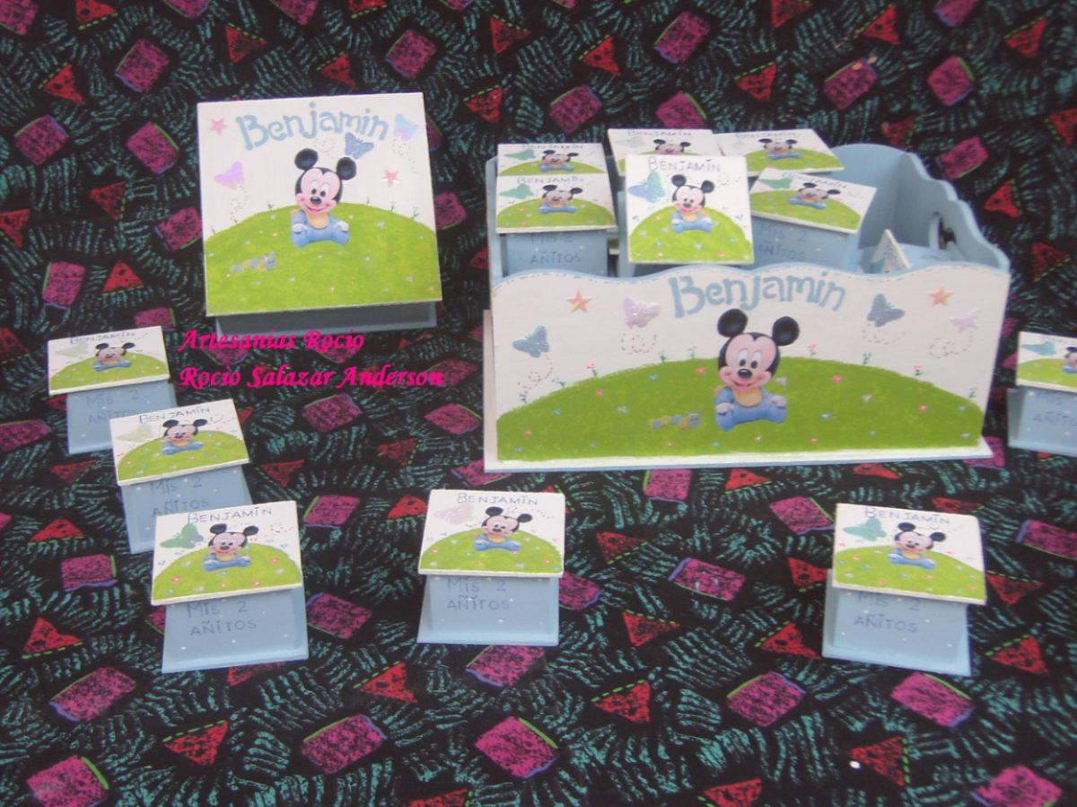Souvenirs Nacimiento O Primer Añito,mickey Bebe,minnie, Pooh - $ 9 ...