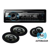 Combo Stereo Positron 2200 + 4 Parlantes 6x9 + 5 /6