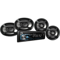 Stereo Pioneer Dxt-x4869bt Cd-usb-blueetooth-m + 4 Parlantes