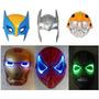 Mascaras Y Casco Conluz De Wolverine Iron Man Thor Y Otros