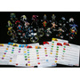 Lote 25 Heroclix Figuras Muñequitos Marvel Dc Super Heroes