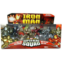 Marvel Hero Squad Iron Man Set X 4 Figuras